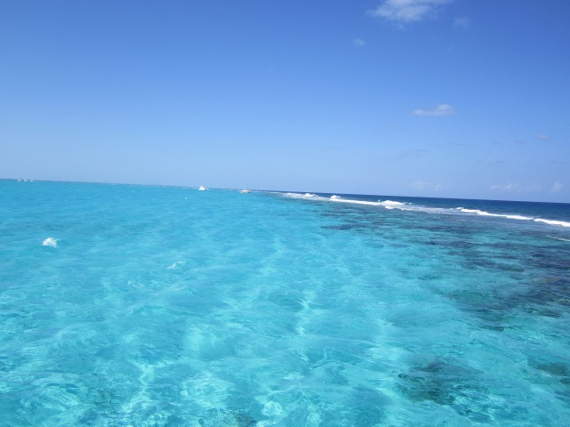Bluest of the blue water